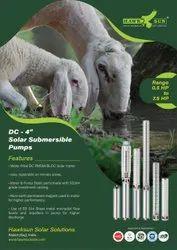 4 1HP DC Solar Submersible Pump Set