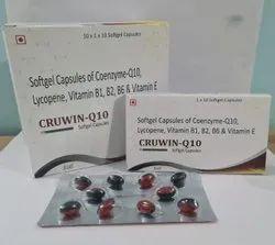 Coenzyme-q 10, lycopene, vitamin B1,B2,B6 & vitamin E