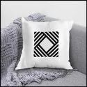 Ikraft Cushion Cover ( Without Filler) Design - Abstract Art