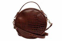 Jhanji Export Brown Girls Leather Bag