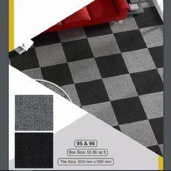 PVC Baking Carpet floor tile, 50 x 50 cm, Fine texture finish