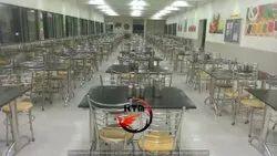 KTM Stainless Steel Granite Top SS Frame Dinning Table -4 Seater, For Restaurant, Size: 48