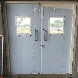 Hinged Double Leaf Metal Door, For Office and Hospital, Size/Dimension: 7 X 5 Feet (h X W)