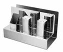 Napkin Stand with Built in Cruet Set & Toothpick Stand