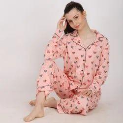 Printed Ladies Night Suit