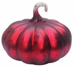 Polished Red Glass Decorative Pumpkin, For Decoration
