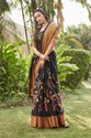 Woman Cotton Silk Saree With Foil Border