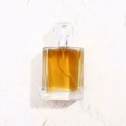 50ml  Vintage Glass Square Packaging Cosmetic Perfume Bottles With Spray Pump For Perfume