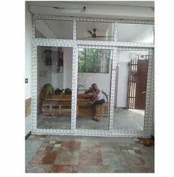 Pristine White UPVC Sliding Door, For Home, Exterior