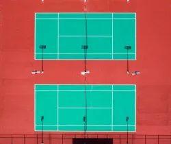 Acrylic 5 Layer Tennis Synthetic Flooring