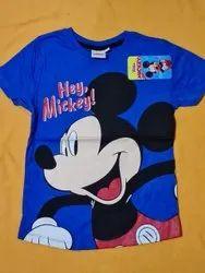 Blue Bulk Baby Garments Kids Wears Knitted Printed Dress Materials