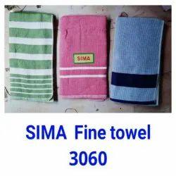 Cotton Plain,Stripes SiMA Fine Towel 3060, For Bathroom