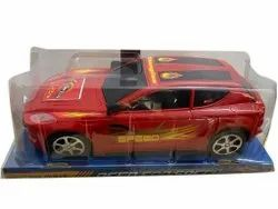 Red Plastic Friction Toy Car