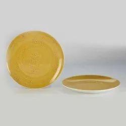 Ceramic Yellow Plate