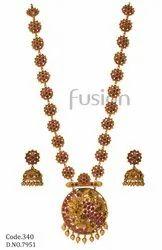 Fusion Arts Matt Polish Long Necklace Set
