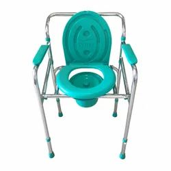 Plastic Folding Commode Chair for Indian Toilet