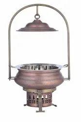Smokey Finished Copper Mughal Mahal Chafing Dish
