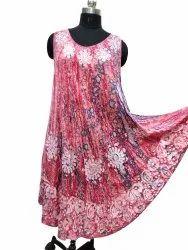 Sleeveless Rayon Dress