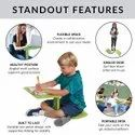 z Shaped Stand Lap Laptop Table And Chair Set For Kids Study In One-Piece  z Desk