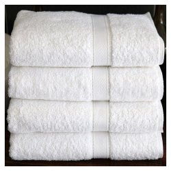 White Plain Terry Bath Towels Usa Gym Towel Most Wanted Rock Botom Price Towel, Rectangle, 250-350 GSM