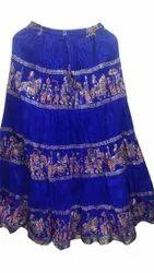 Ladies Gold Print Skirt