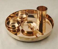 Bronze Kansa Thali Set