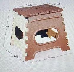 Plastic Folding Stool 12 Inch