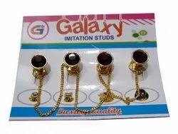 Golden Round Iron Garment Button