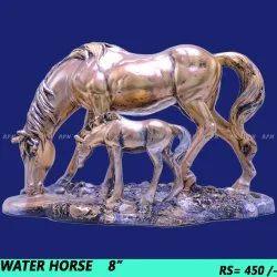 Fiber/ Marble horse showpiece