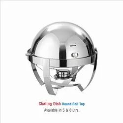 Stainless Steel Round Chafing Dish-5 ltr