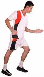 White Men Sports Wear NK Jersey Shorts Set