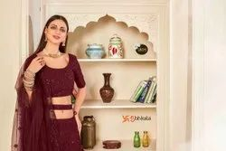 Georgette Embroidery Exclusive Party Lehenga