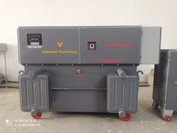 Three Phase 125 Kva Oil Cooled Servo Stabilizer, 360 Volt Ac To 480 Volt Ac