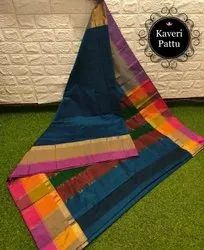 Silk Party Wear Exclusive Kaveri Pattu Saree, With Blouse Piece