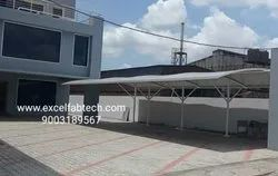 Cantilever Canopy For Car Parking Tensile Structure