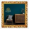 Golden Carving Teak Wood Craved Mirror, For Decorative Purpose, Size: 600 X 600mm