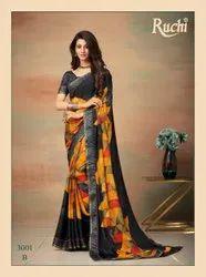 Multicolor Printed Women Saree