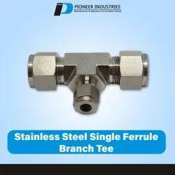 Stainless Steel single Ferrule Branch Tee
