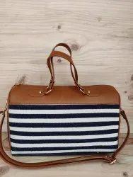 Jacquard Duffle Bag