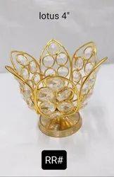 Crystal Flower Shape Akhand Diya
