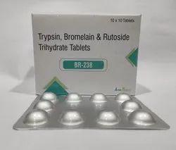 Trypsin 48Mg + Bromelain 90Mg +Rutoside 100Mg Tablet