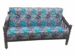 Akeel Interior Wooden Grey Printed Two Seater Sofa, Living Room