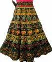 Badmeri Print Wrap Around Skirt