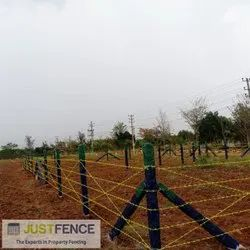 Rust Proof Barbed Wire Fence  - PVC Coated 12x12