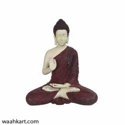 Spiritual Gautam Buddha Sitting Statue- Mehroon Shade