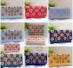 Female Occasions Ladies Stylish Box Clutch Bag AY 178, For Handbag