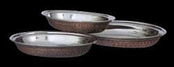 Smokey Finished Copper Oval Curry Dishes