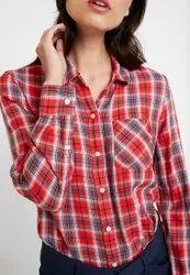 Export Surplus Ladies Checks Shirts