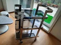 Glass Shelf Trolley