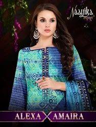 Naayika Export Alexa Amaira Printed Soft Cotton With Cotton Feel Dupatta Suits Catalog